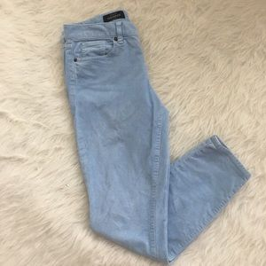 J. Crew toothpick ankle blue corduroy pants 28